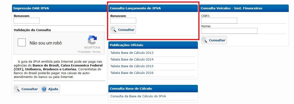 Consulta IPVA AM