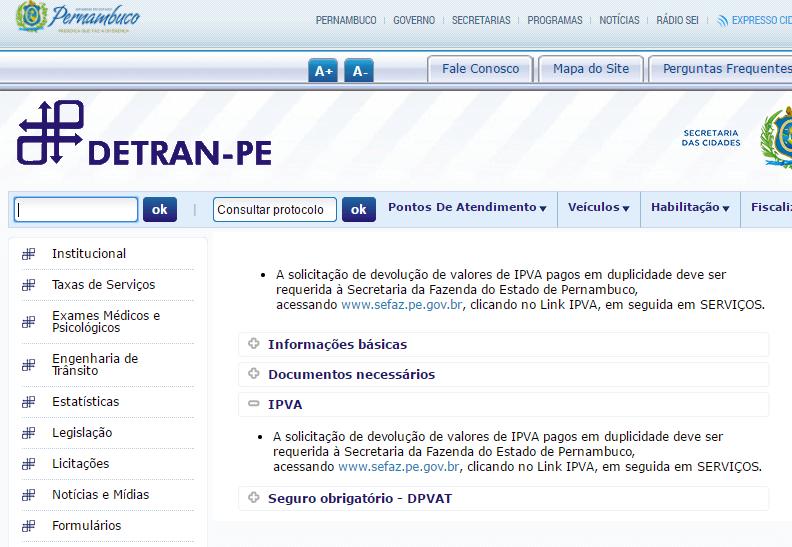 Consulta IPVA Pernambuco