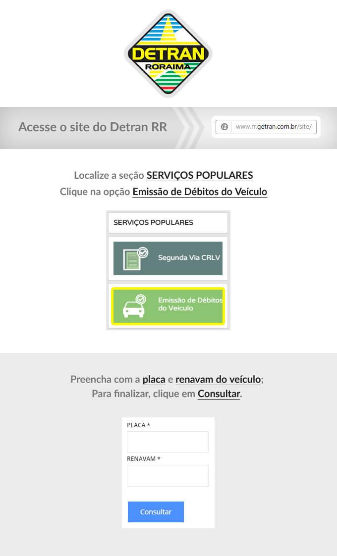 Consulta IPVA 2022 Roraima - Detran RR